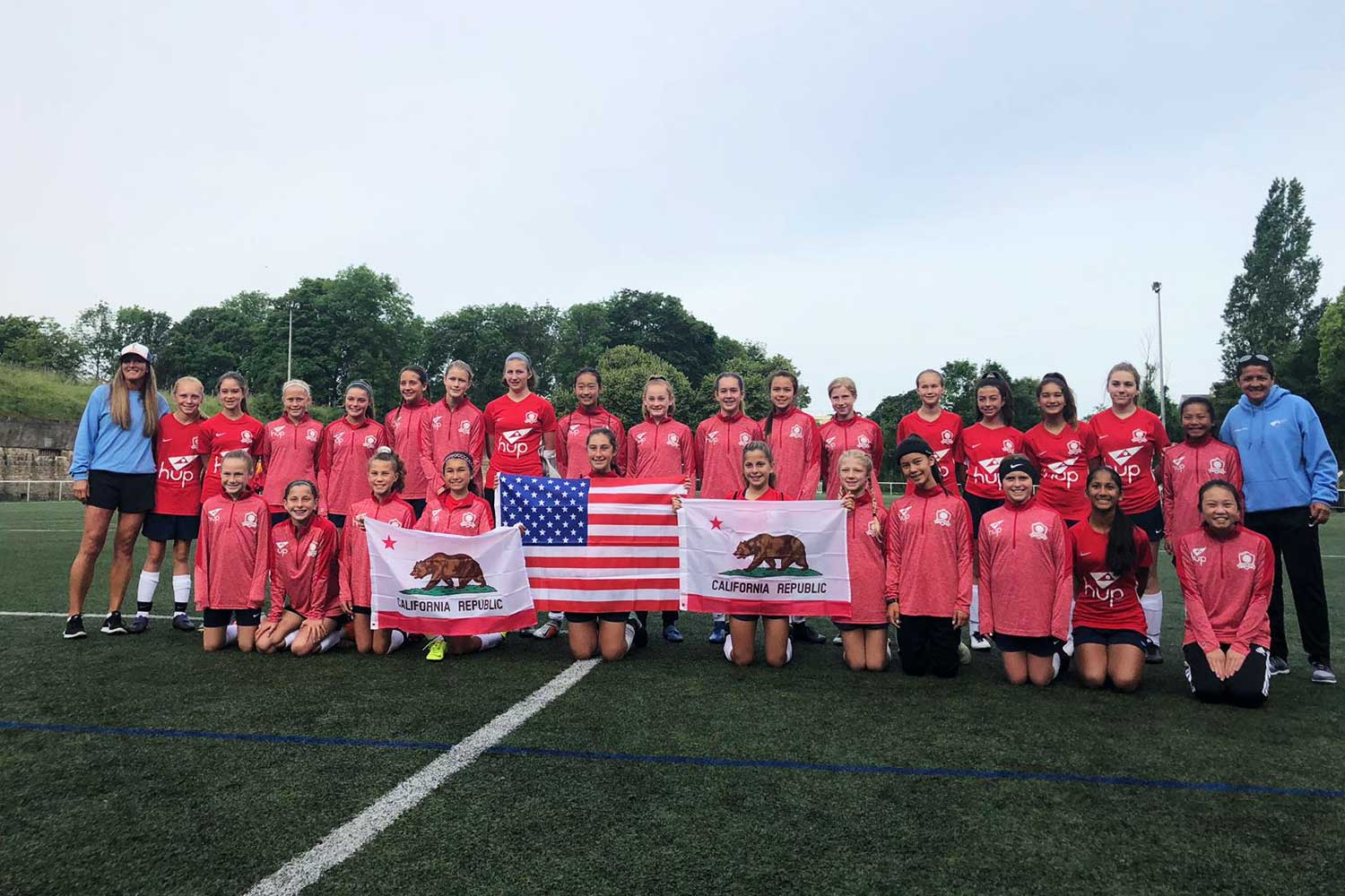 HUP NorCal Select tour France during FIFA Women's World Cup