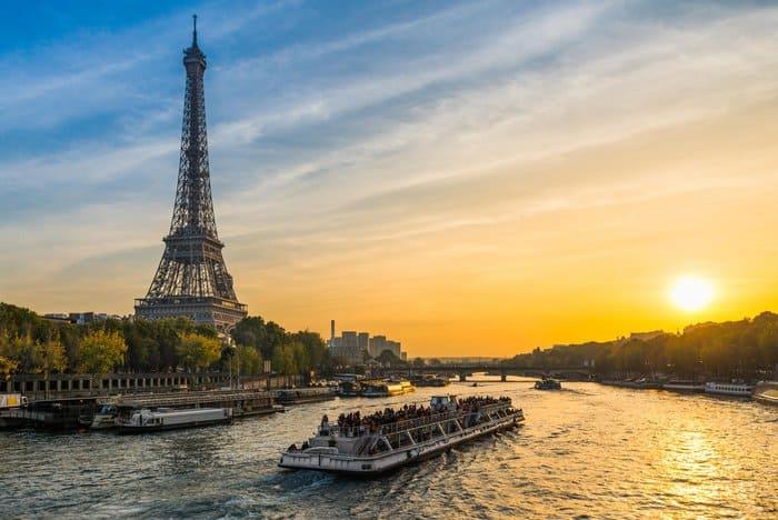 KG4X1T Sunset at the Eiffel tower, Paris